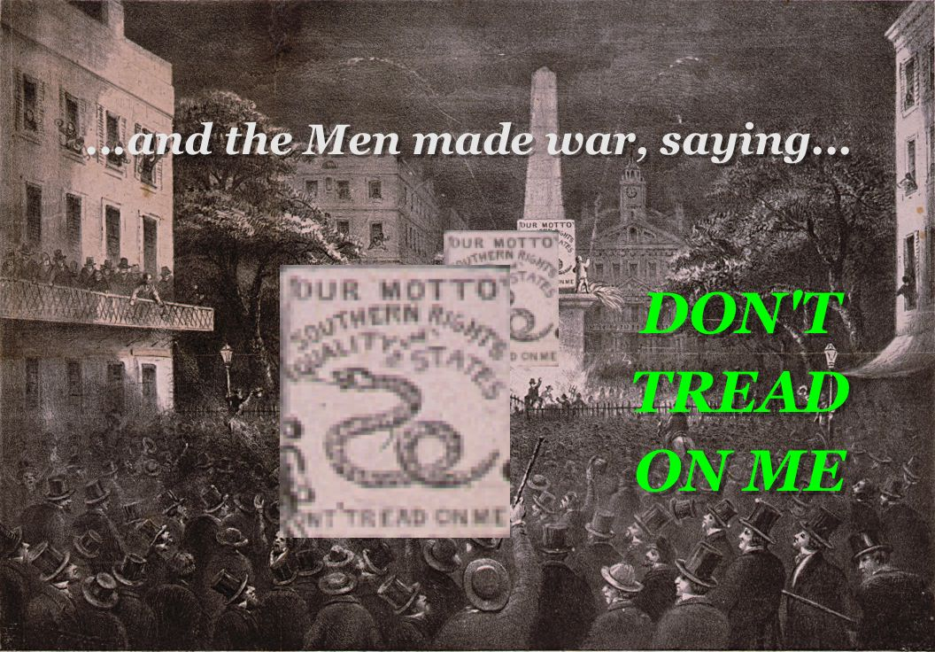 ….and the Men made war, saying… Don't Tread On Me